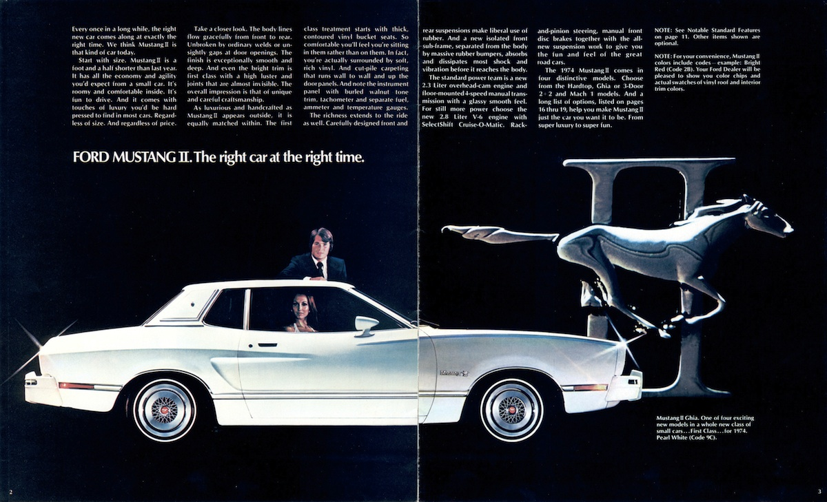 Page 2-3: 1974 Mustang II Introduction