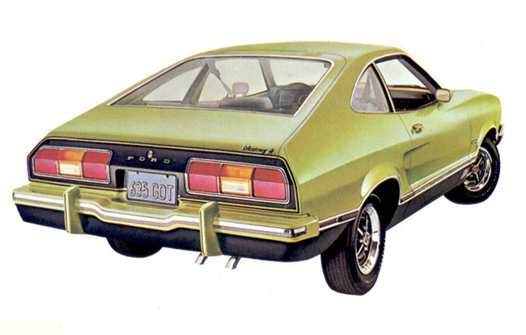 Medium Lime Yellow 1974 Mustang II Mach 1