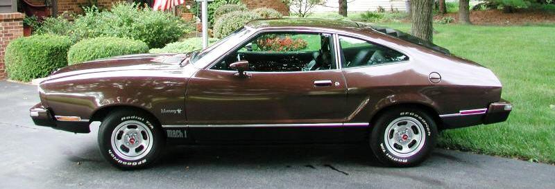 Dark Brown 1975 Mach 1 Ford Mustang Ii Hatchback