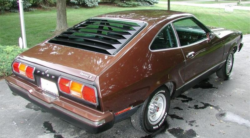 Dark Brown 1975 Mustang Mach 1