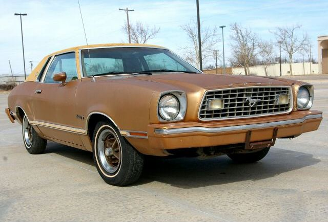 Tan 1975 Mustang II Ghia Coupe