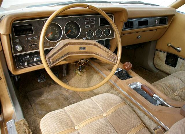 tan glow gold 1975 ford mustang ii ghia coupe photo detail. Black Bedroom Furniture Sets. Home Design Ideas