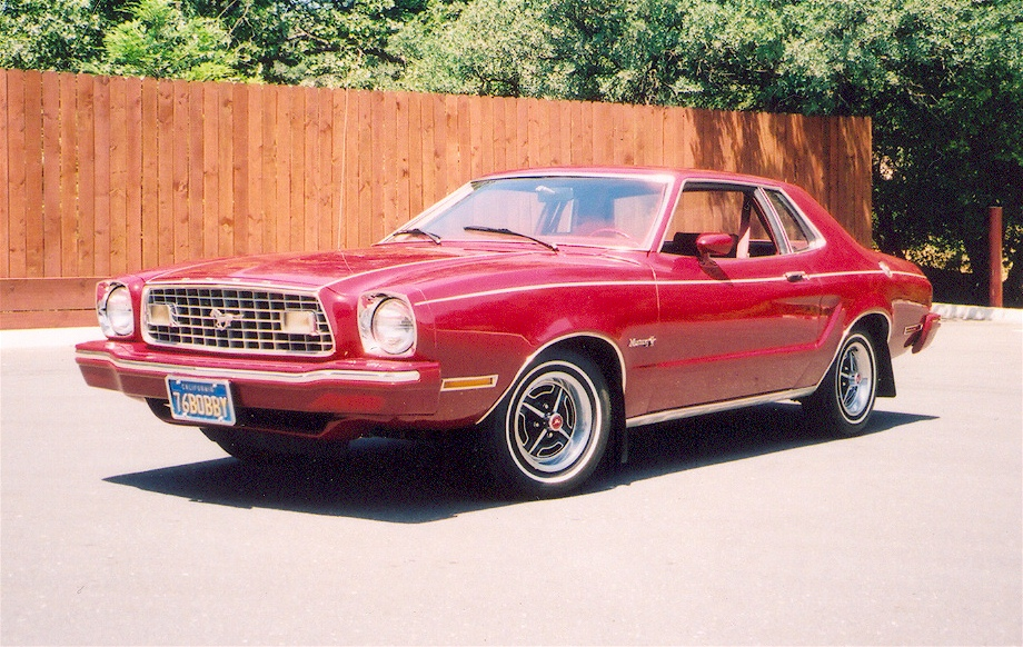 dark red 1975 ford mustang ii coupe. Black Bedroom Furniture Sets. Home Design Ideas