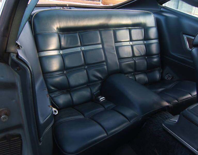Back Seat 1975 Mustang II Mach 1 Hatchback