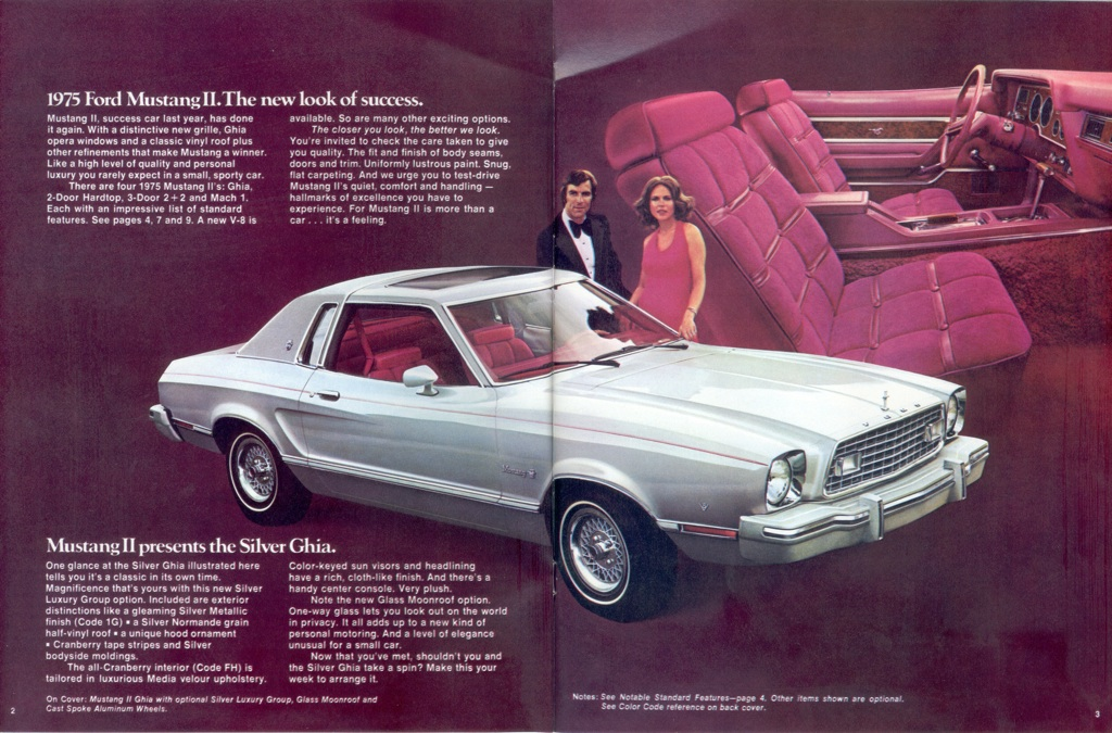 silver 1975 ford mustang ii ghia coupe mustangattitude. Black Bedroom Furniture Sets. Home Design Ideas