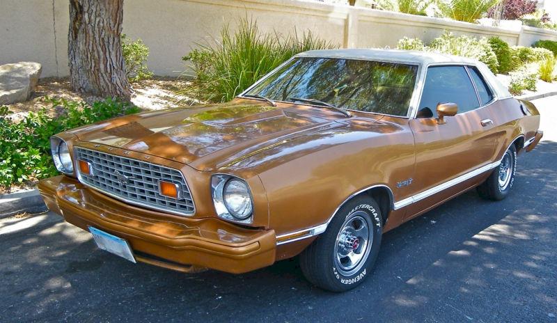 medium chestnut orange 1975 ford mustang ii 50th. Black Bedroom Furniture Sets. Home Design Ideas