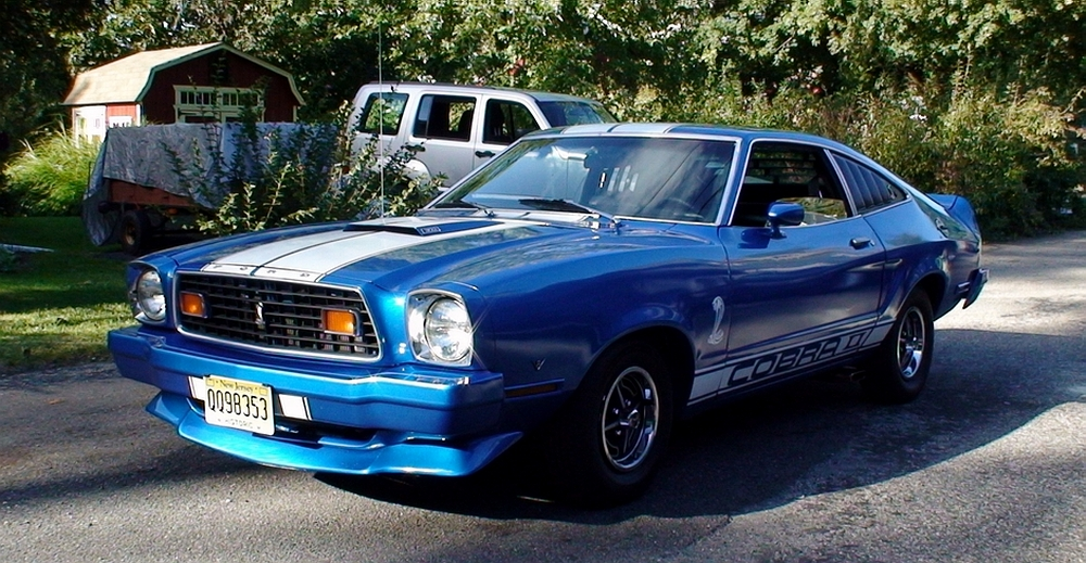 blue 1976 ford mustang cobra ii. Black Bedroom Furniture Sets. Home Design Ideas