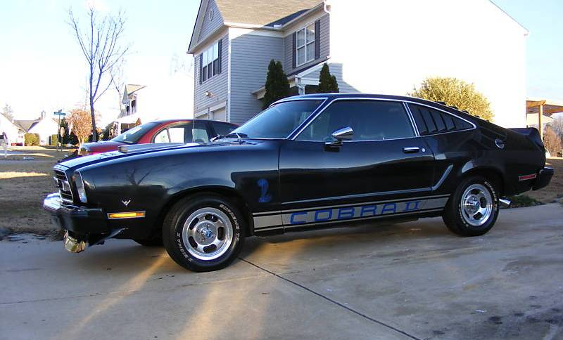 black 1976 ford mustang cobra ii hatchback. Black Bedroom Furniture Sets. Home Design Ideas