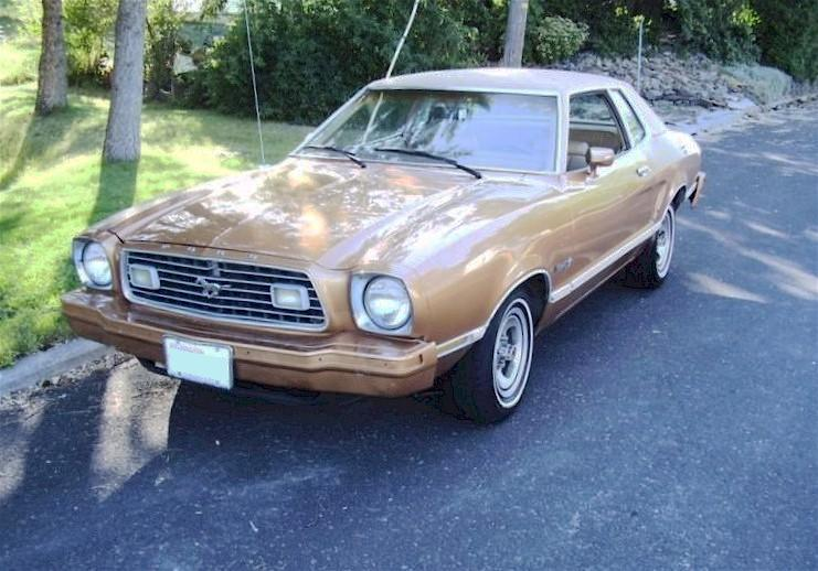 Medium Gold 1977 Mustang II Coupe