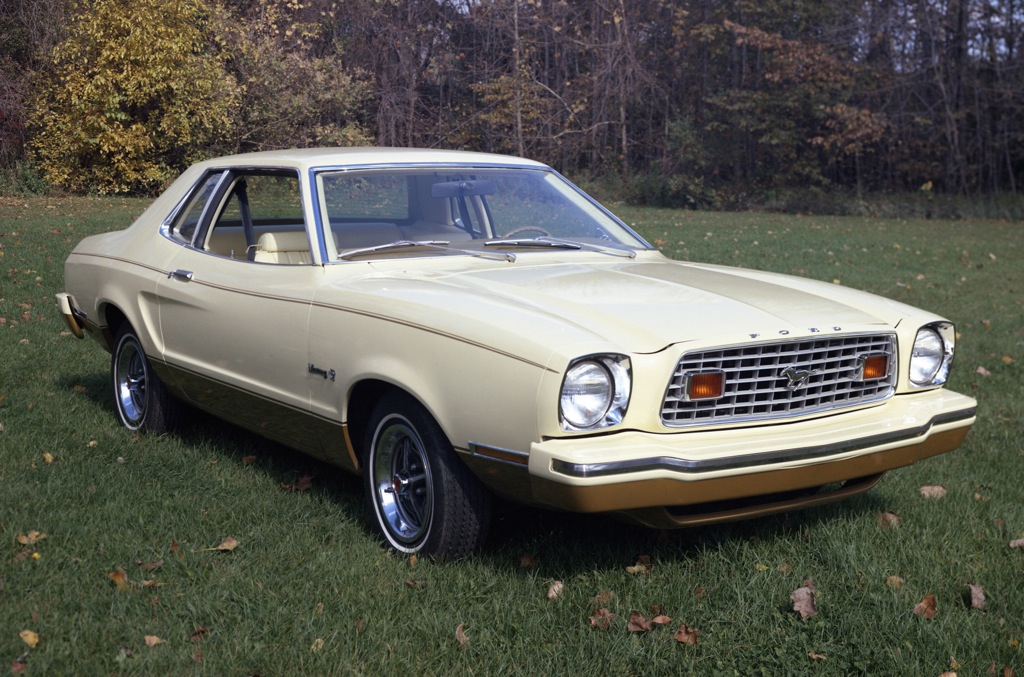 Cream Yellow 1976 Ford Mustang II Special Value Package