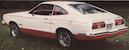 White over Red 1976 Mustang II Limited Edition Special Value Package