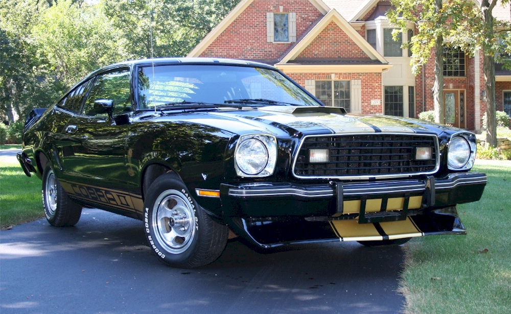 Black 1977 Ford Mustang