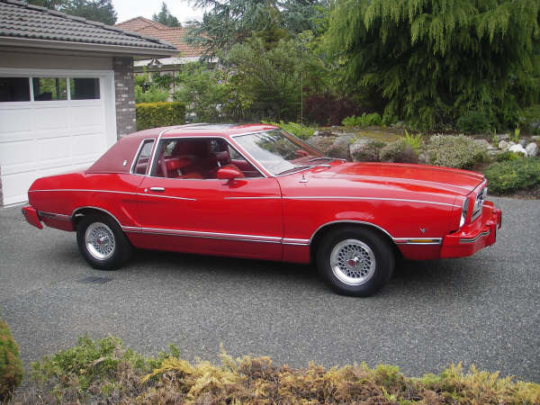 Bright Red 1977 Mustang