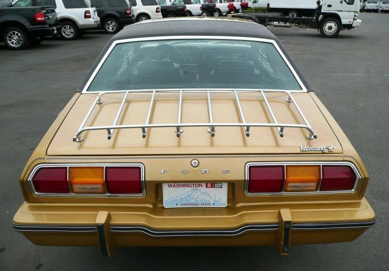 Medium Gold 1977 Mustang with GHIA package