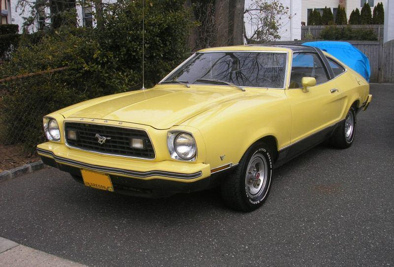 Bright Yellow 1977 Mach 1 Ford Mustang Ii Hatchback