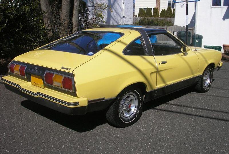Bright Yellow 1977 Mach-1 Mustang Hatchback
