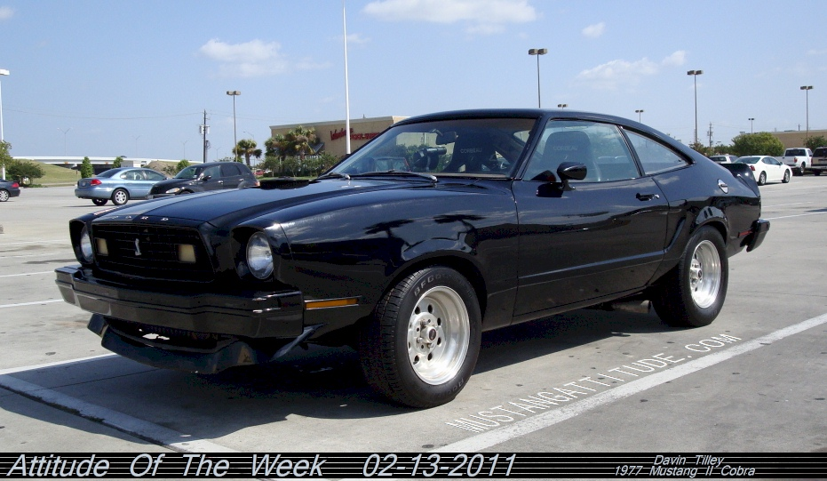 Black 1977 Mustang II Cobra