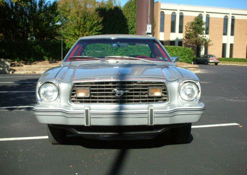 Silver 1977 Mustang II coupe