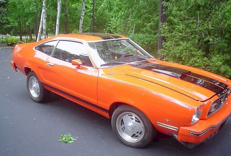 Vista Orange 1977 Mustang Hatchback