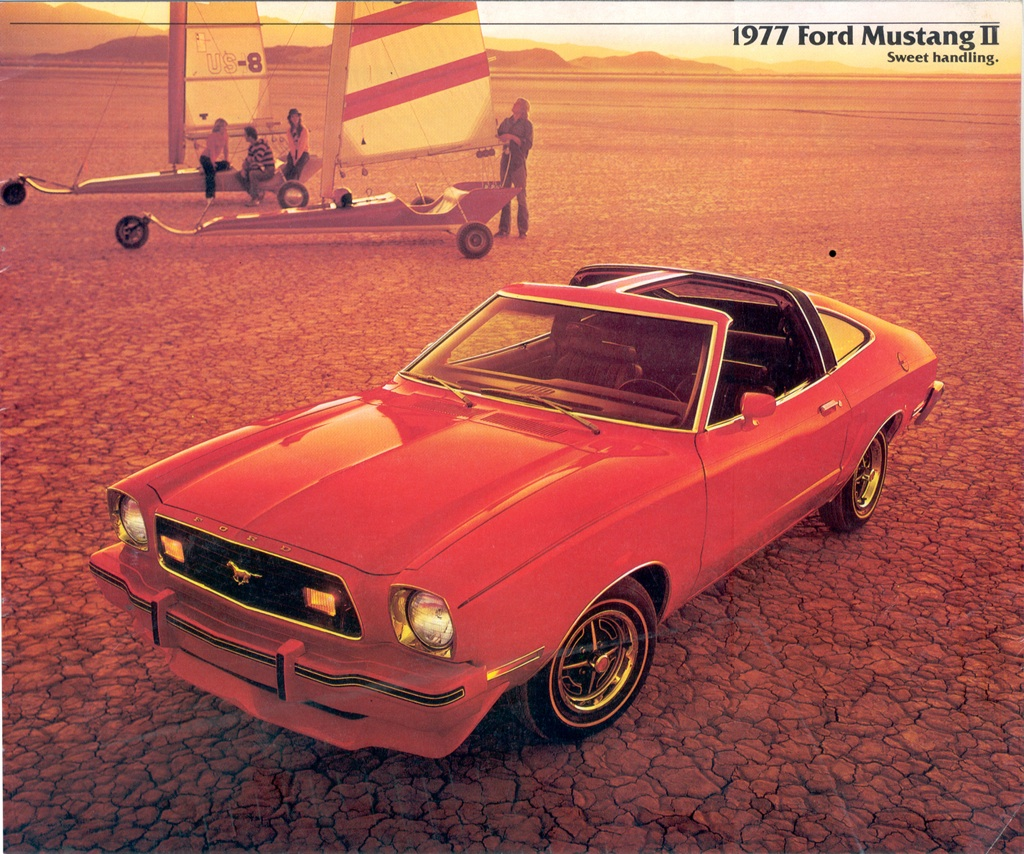 Bright Red 1977 Mustang T-top Hatchback