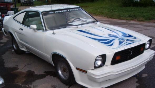 white 1978 ford mustang ii king cobra hatchback photo detail. Black Bedroom Furniture Sets. Home Design Ideas