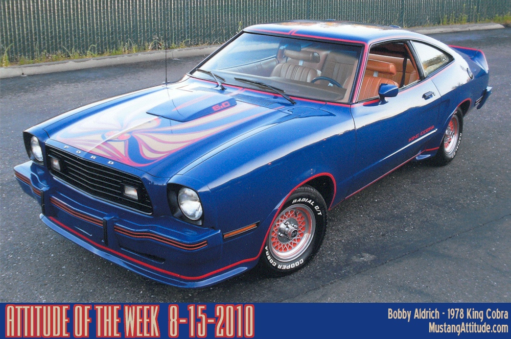 Dark Midnight Blue 1978 Ford Mustang II King Cobra ...