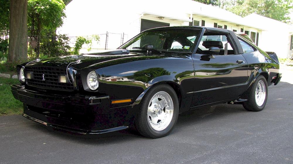 black 1978 ford mustang ii king cobra hatchback photo detail. Black Bedroom Furniture Sets. Home Design Ideas