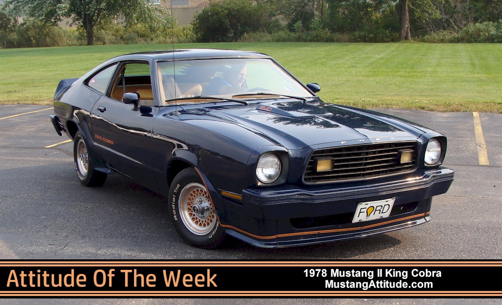 Dark Midnight Blue 1978 Mustang II King Cobra