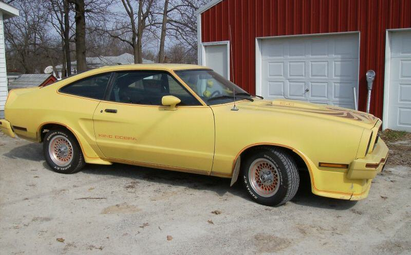 bright yellow 1978 ford mustang ii king cobra hatchback photo detail. Black Bedroom Furniture Sets. Home Design Ideas