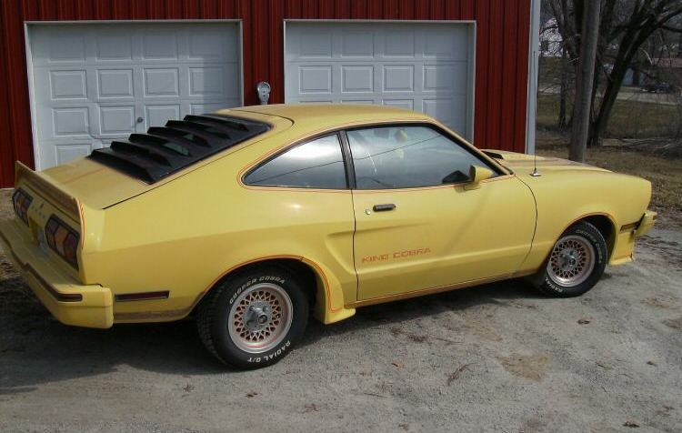 Bright Yellow 78 King Cobra Mustang II Hatchback
