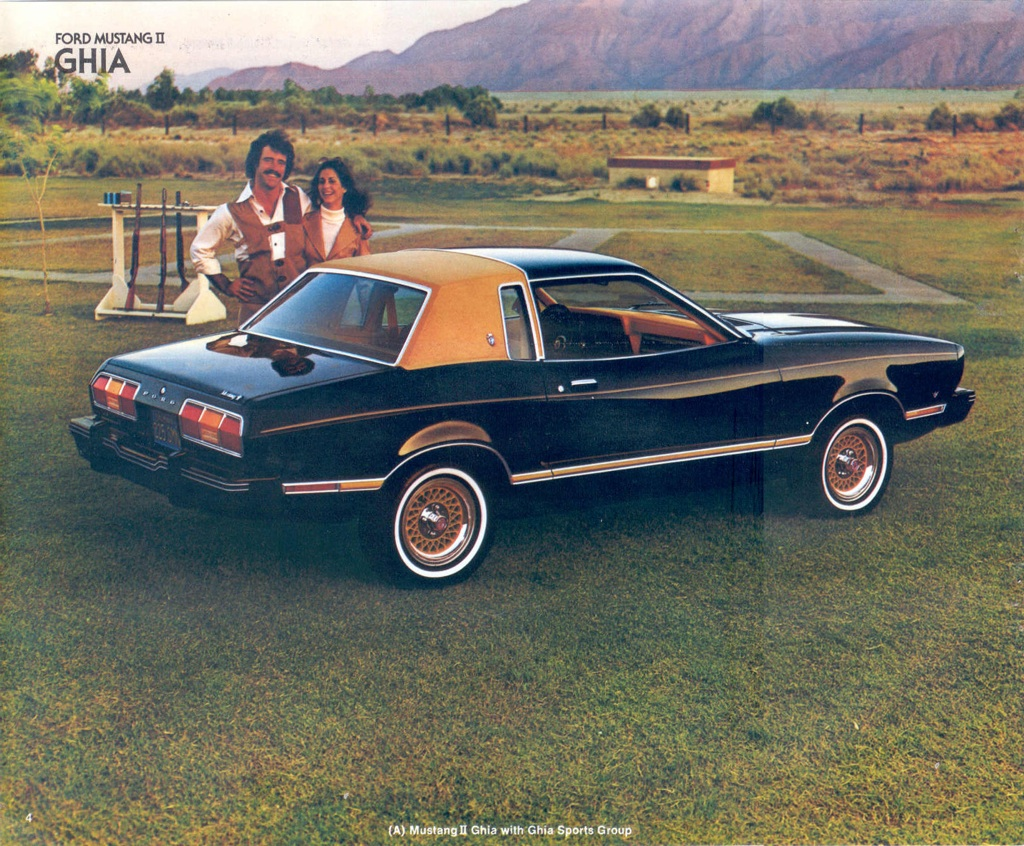 Black 1978 Mustang II Ghia Coupe