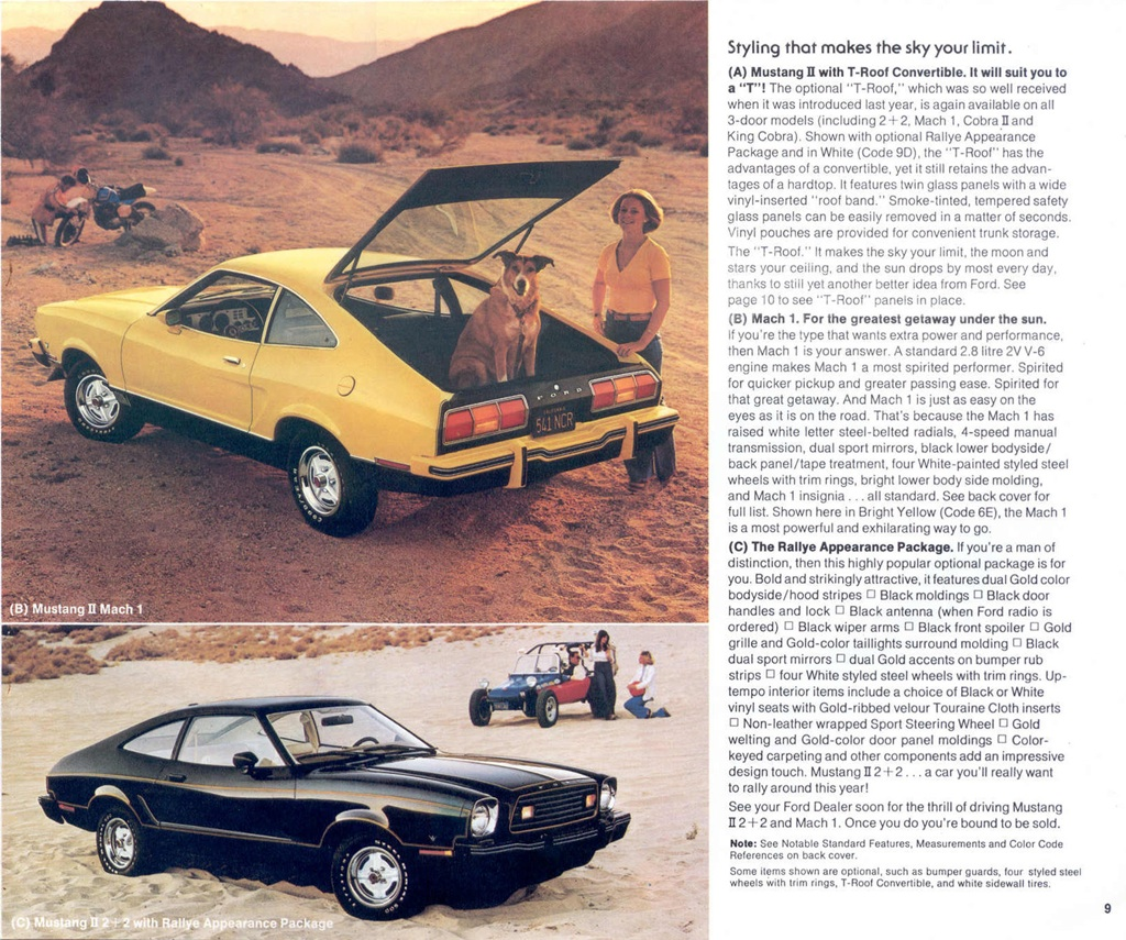 1978 Ford Mustang Promotional Booklet