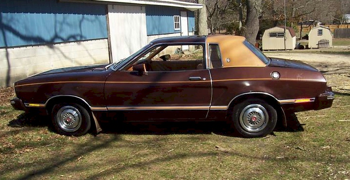 Dark Brown 1978 Mustang II Ghia