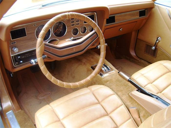 Gold Interior 78 Ghia Mustang II Coupe