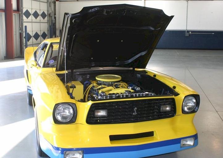 Yellow 1978 Ford Mustang II Monroe Handler Hatchback