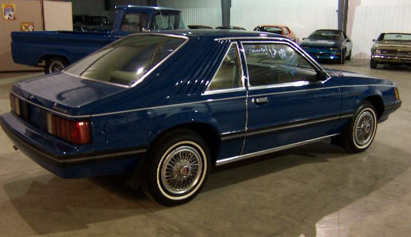 Bright Blue 1979 Ford Mustang Ghia Hatchback