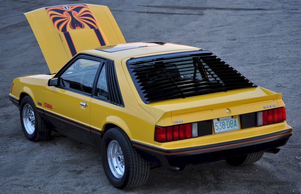 Yellow 1979 Mustang Cobra