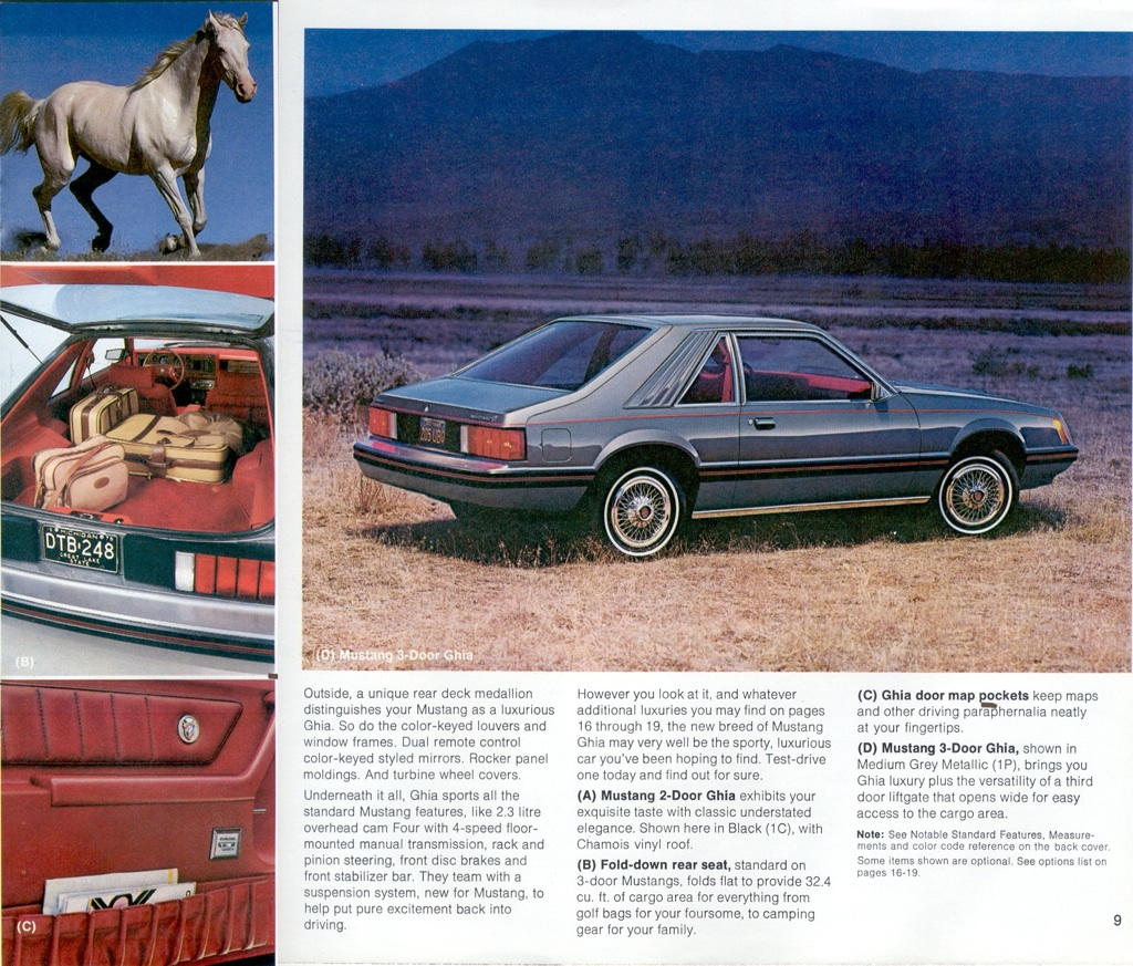 1979 Ford Mustang Promotional Booklet