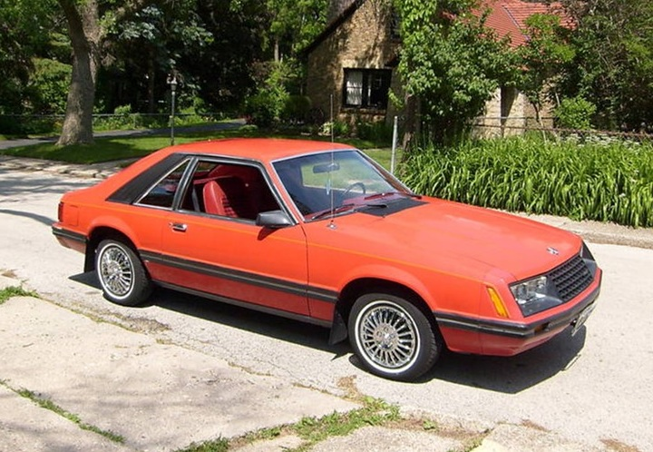 Bright Red 1979 Mustang Hatchback