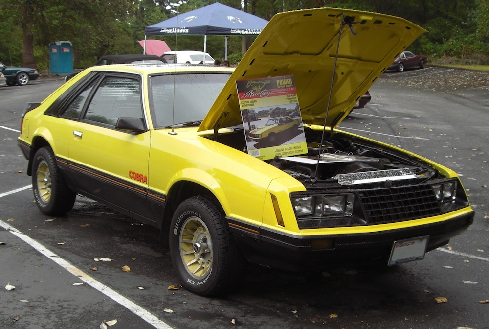 Bright Yellow 1979 Mustang Cobra Hatchback