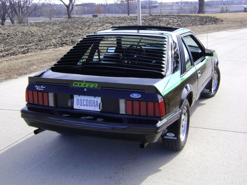 Black 1980 Cobra Mustang Hatchback