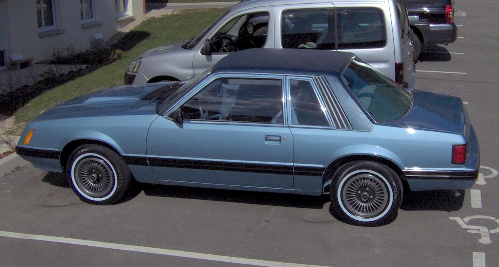Medium Blue Glow 1980 Ford Mustang Coupe Mustangattitude