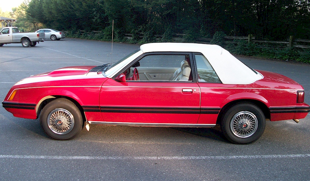 Bright Red 80 Mustang Ghia