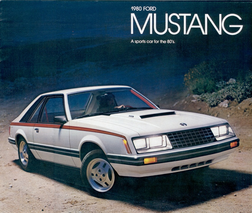 Cover 1980 Mustang Promotional Booklet - Polar White Mustang Hatchback