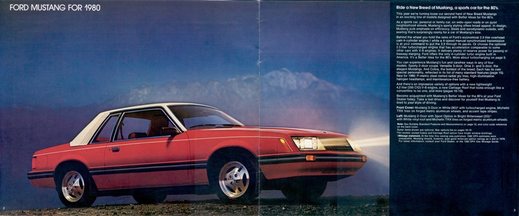 bright bittersweet orange 1980 ford mustang coupe Ford Mustang Advertisements 2005 Ford Mustang