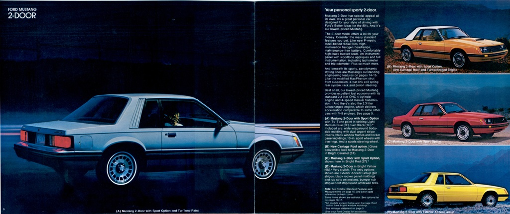 Light Medium Blue 1980 Ford Mustang Coupe