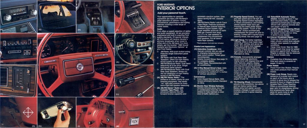 1980 Mustang Interior Options
