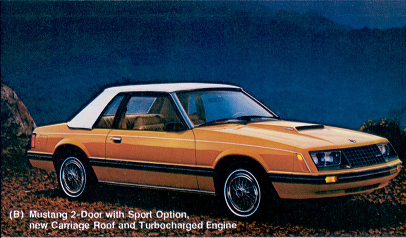 Bright Caramel Orange 1980 Ford Mustang Coupe