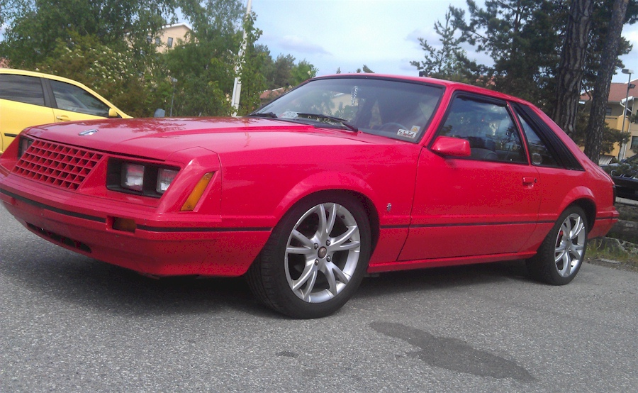 Red 1981 Mustang