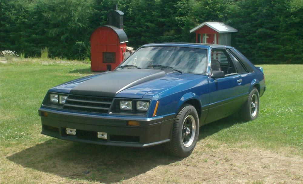 blue 1981 ford mustang cobra optioned hatchback. Black Bedroom Furniture Sets. Home Design Ideas